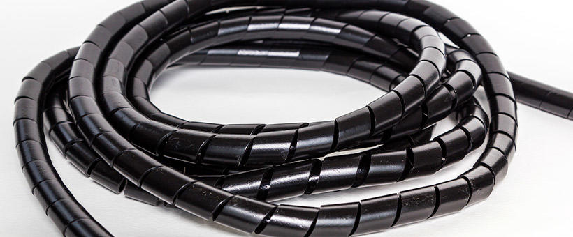 Guide to spiral cable wrap