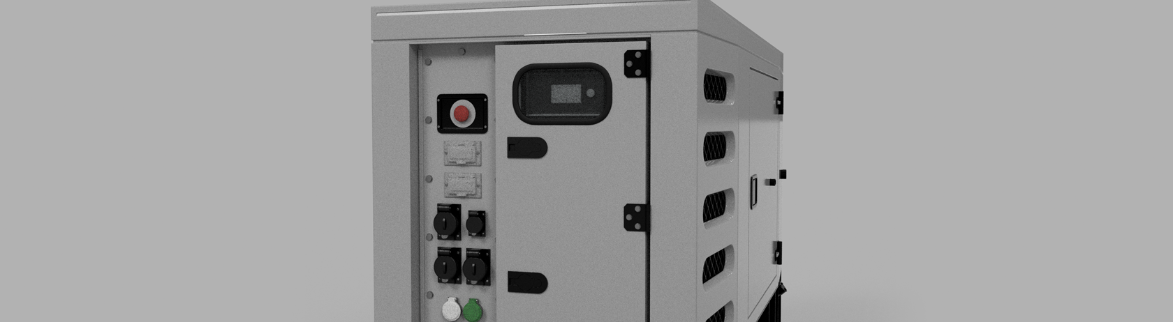 Generator side panel and control panel