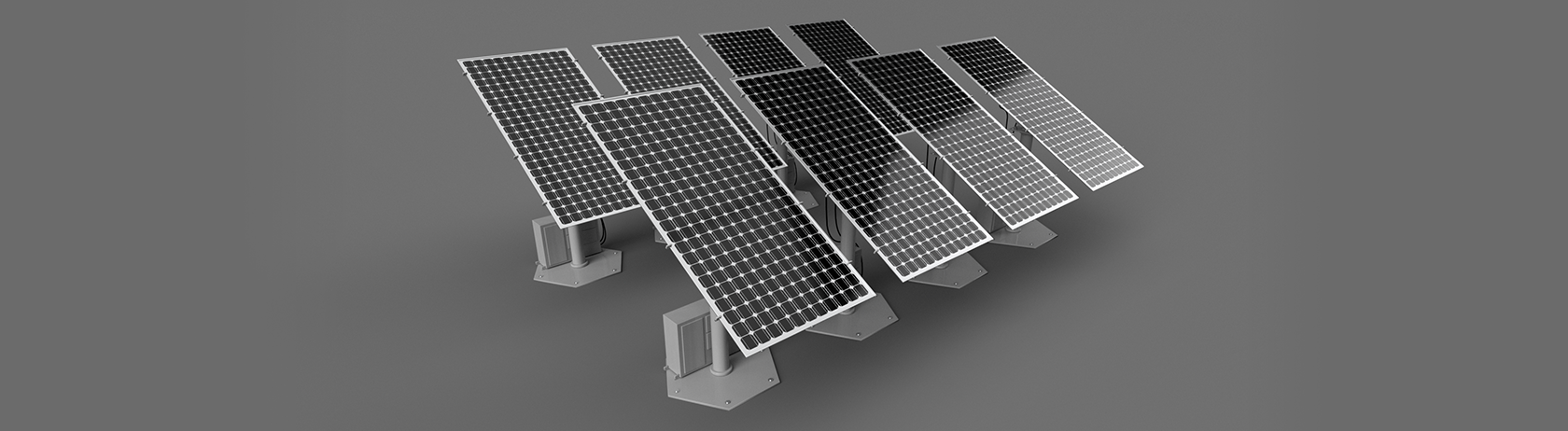 Solar PV System components: solar panels and fuse boxes