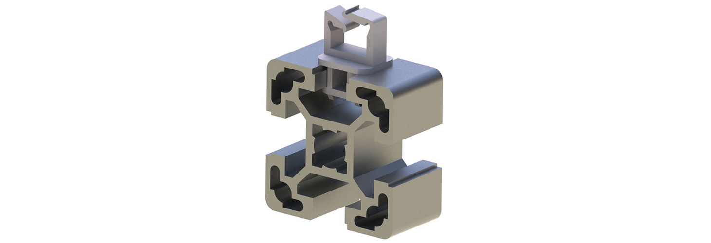 Cable clips for extruded metal rail