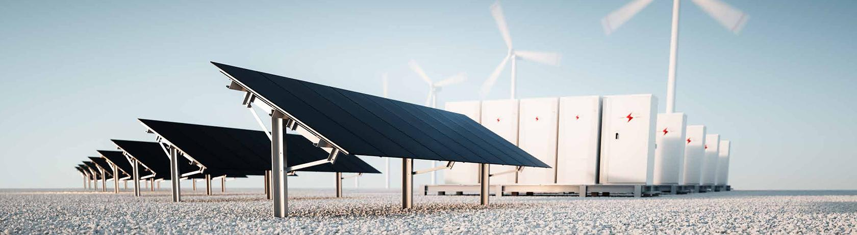 Battery energy storage system for wind and solar energy