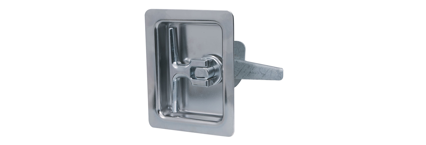 Flush-cup recessed T-handle latch