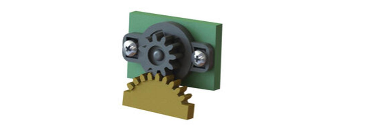Rotary damper – with gear
