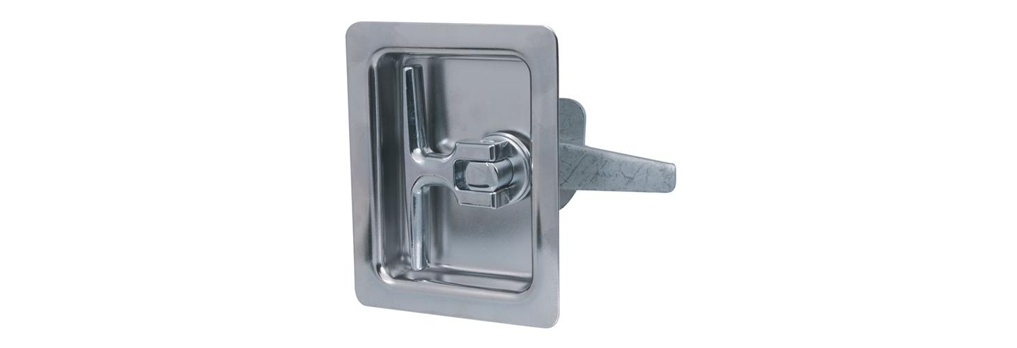 Flush cup – recessed T-handle latch