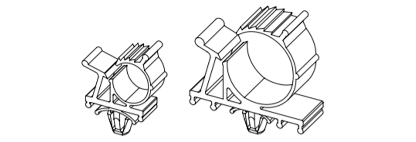 Adjustable cable clamps