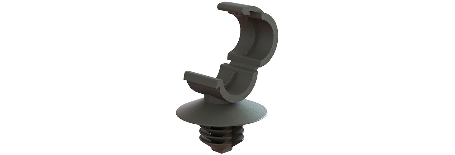 Cable Clamps - Fir Tree Mount, Hinged Locking Top