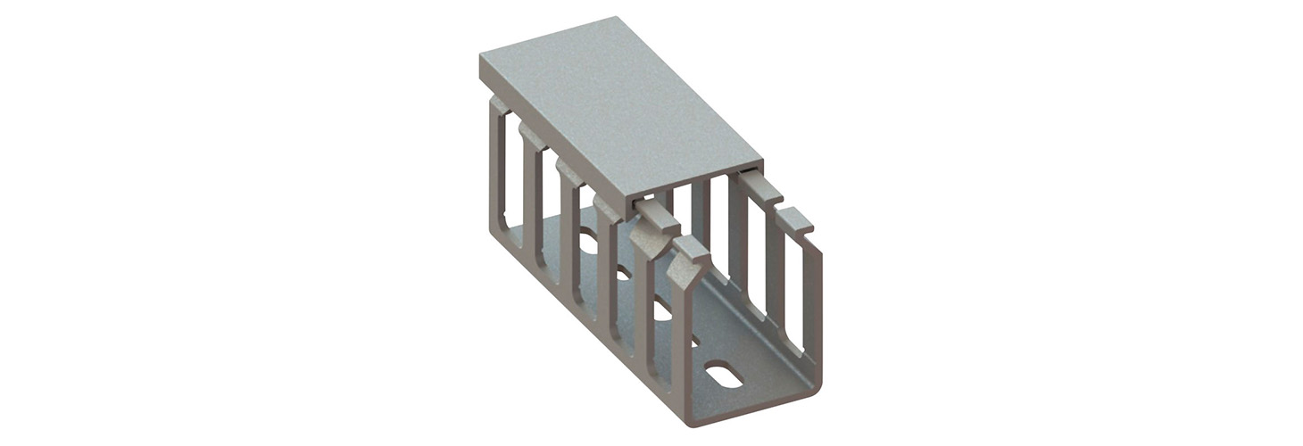 Cable Duct - Screw Mount, Slotted