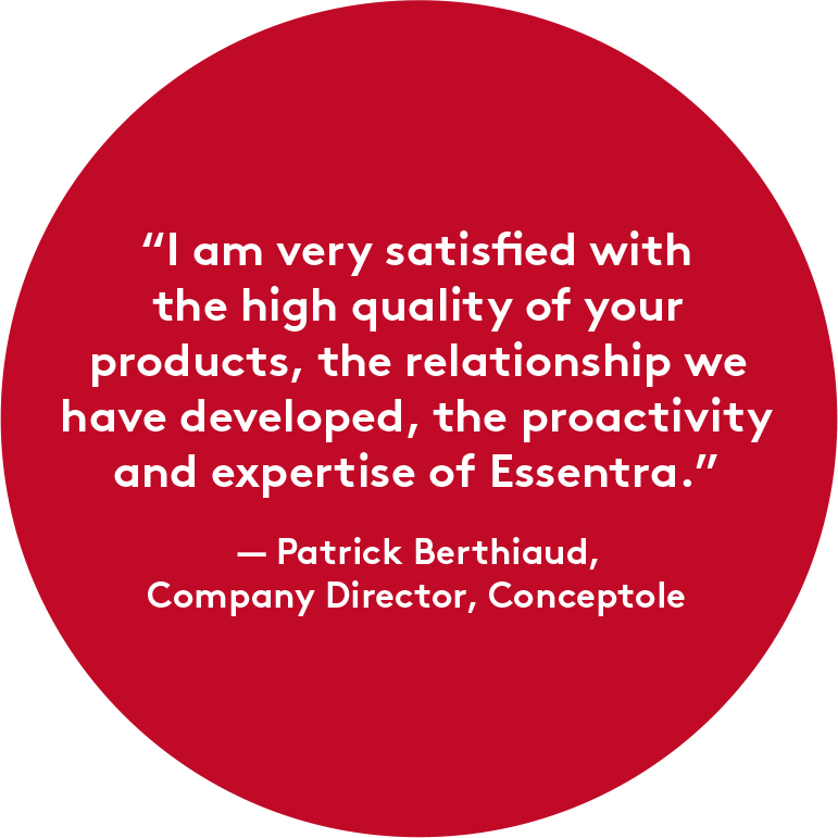 Patrick Berthiaud, Company Director, Conceptole Quote