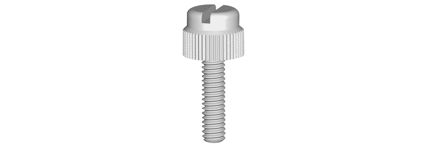 Pack of 60 Transparent Clear Plastic Acrylic Thumbscrews Slotted+knurled M5 x 30mm