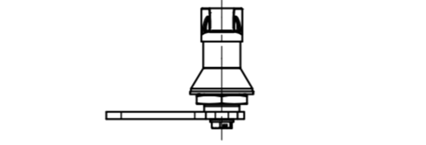 L Handle cam latch technical drawing