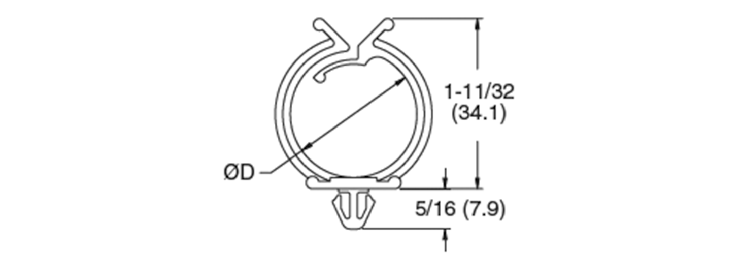 Round cable clamps, plug in