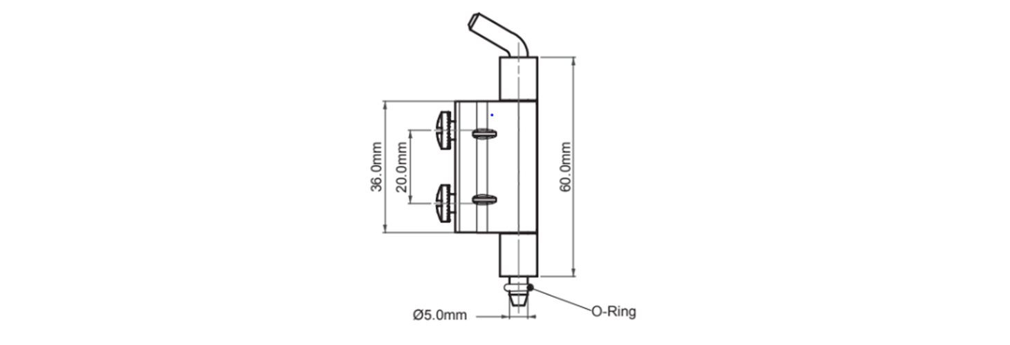 Screw-on concealed hinges technical drawing