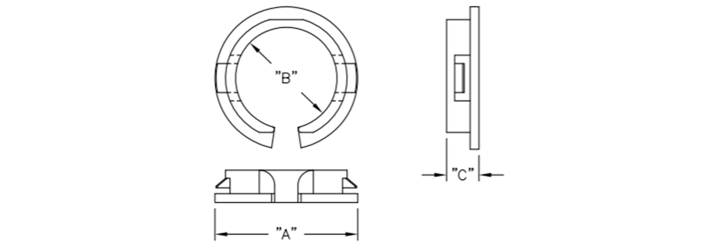 Snap fit cable bushing