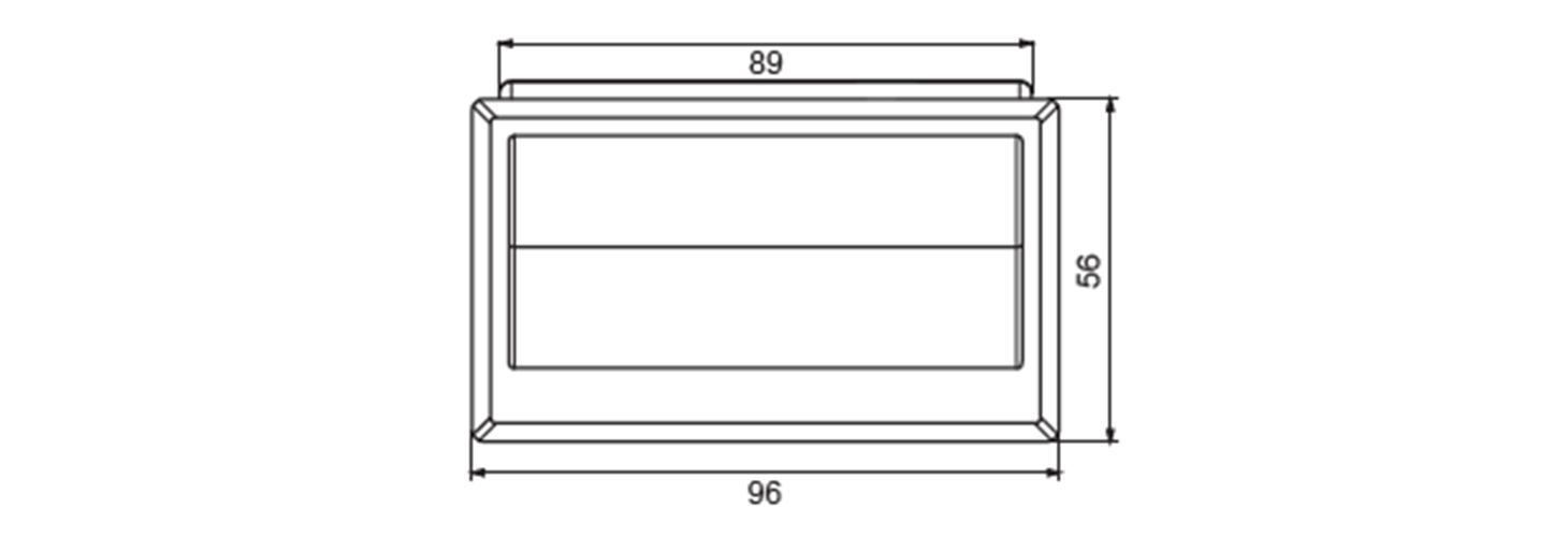 Snap-in pull handle technical drawing