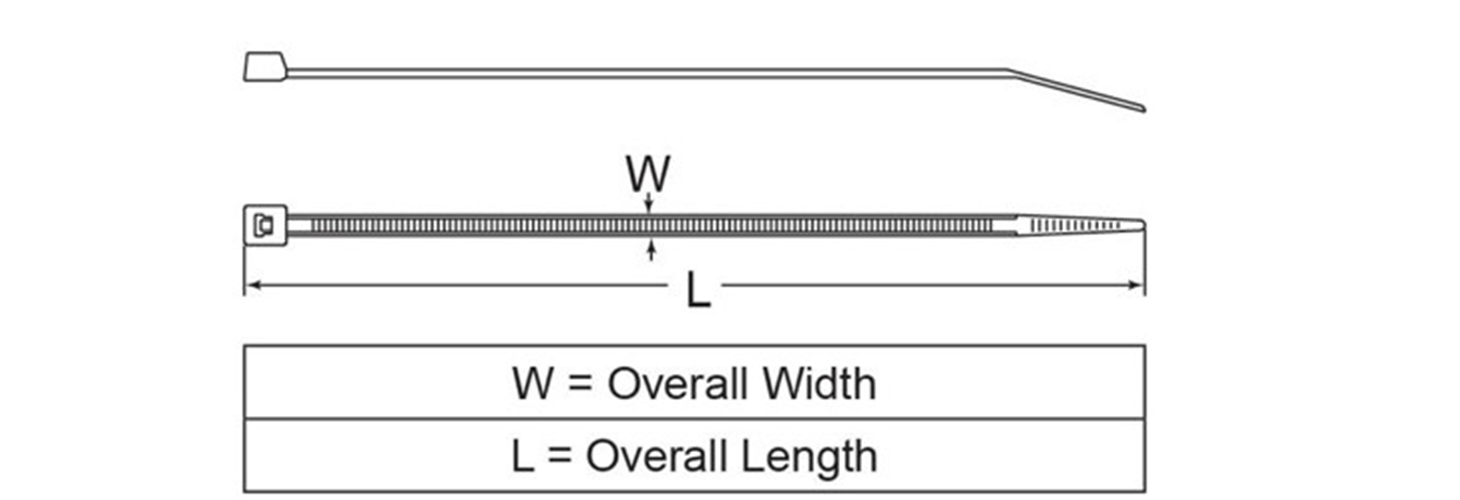 Standard cable ties, heat stabilized
