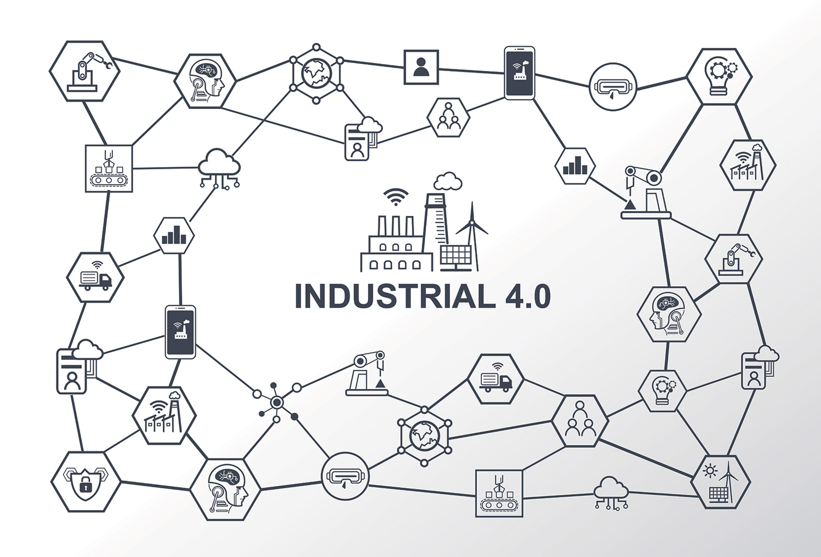 Industry 4.0 and purchase decisions illustration